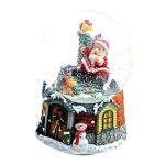 snowglobe sleigh globo de neve natal trenó caixa de música 58041 pai natal teddy urso 59111