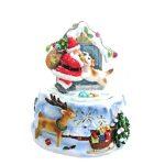 snowglobe sleigh globo de neve natal trenó caixa de música 58041 pai natal teddy urso 59057